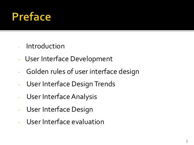 User Interface Analysis And Design
