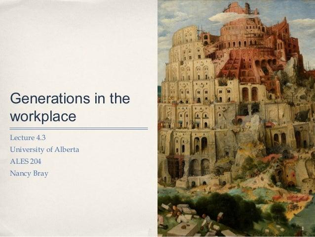 Generations in theworkplaceLecture 4.3University of AlbertaALES 204Nancy Bray                        1