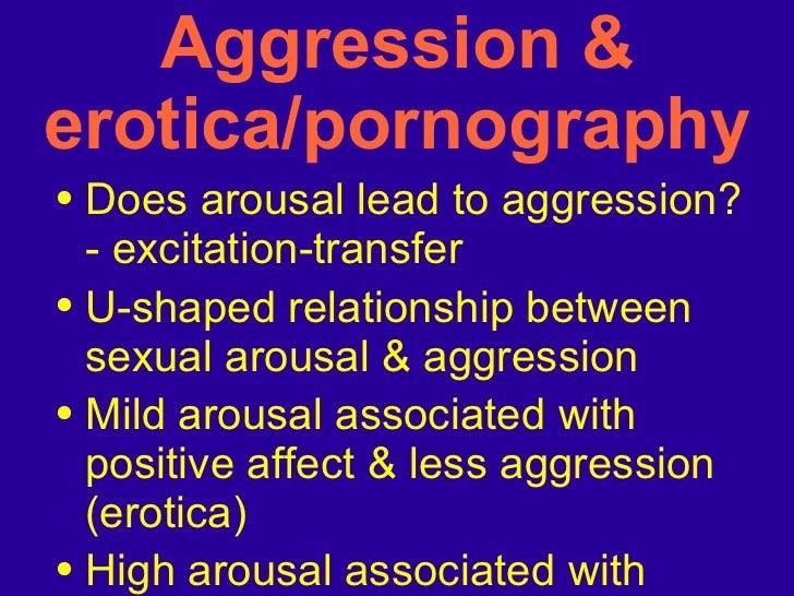 Aggression & erotica/pornography <ul><li>Does arousal lead to aggression? - excitation-transfer  </li></ul><ul><li>U-shape...