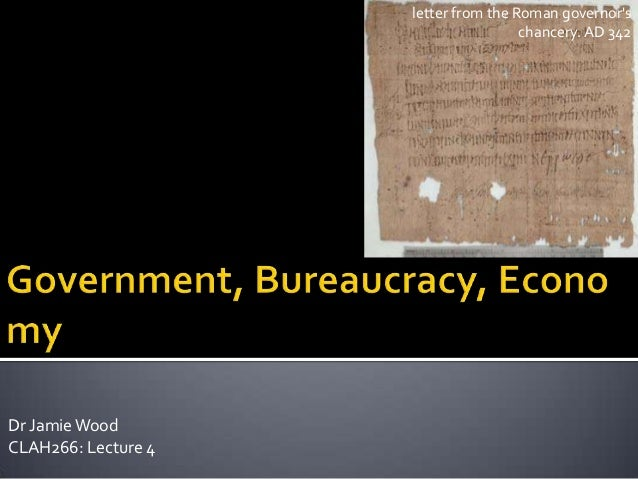 letter from the Roman governors                                      chancery. AD 342Dr Jamie WoodCLAH266: Lecture 4