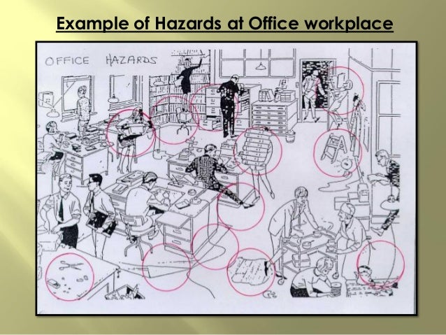 Example of Hazards at Office workplace