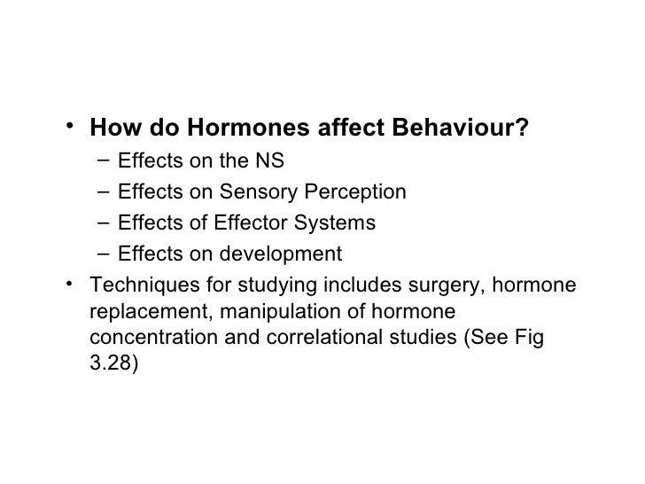 How does the endocrine system affect behavior?