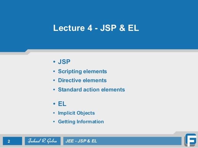 el expression in jsp pdf