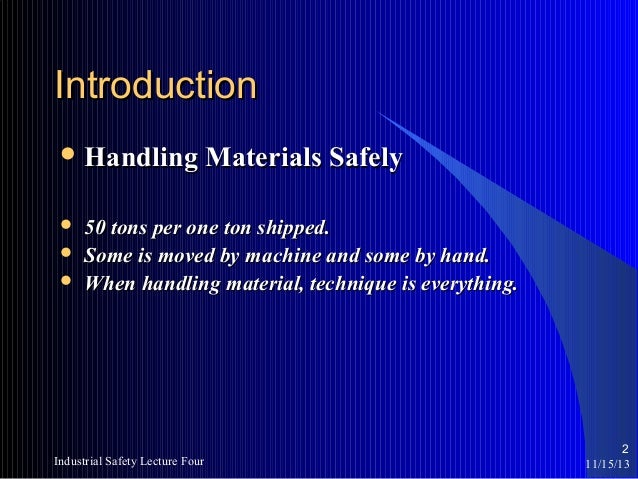 Safe material handling training power point.