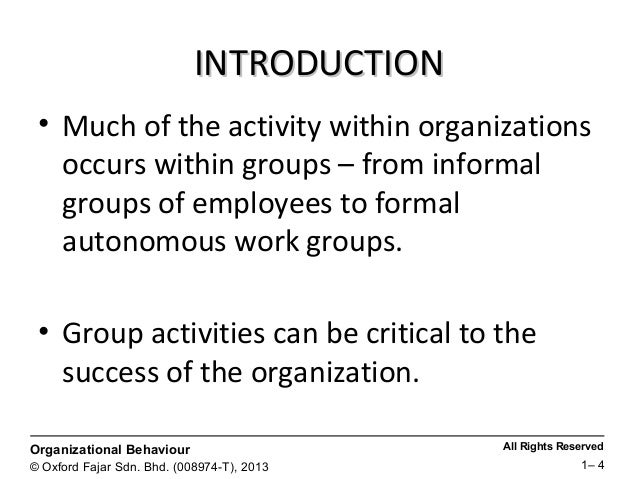 the nature of teams and groups Be managed if groups are to develop into high-performing teams these are: 1)  the nature of the team's tasks, 2) the system through which formal and informal.