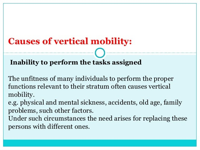 causes of social mobility There are twoprincipal types of social mobility, horizontal andvertical  this  greater mobility is probably one of the causes of thebelief that the social building  of.