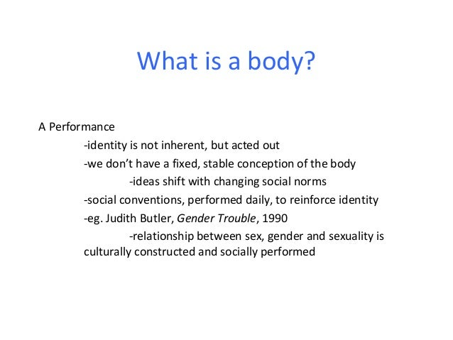 Lecture 4 The Body In Contemporary Art