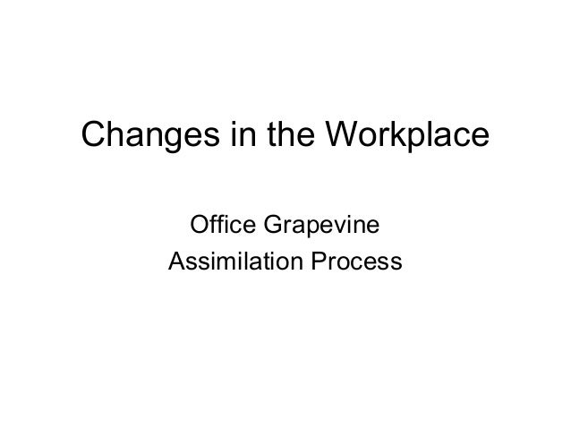 Changes in the Workplace Office Grapevine Assimilation Process