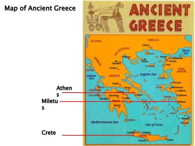 Ancient Greece Map With Cities.Ancient Greek Civilzation And Architecture