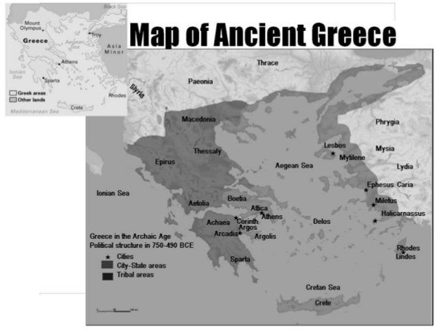 Topographic Map Of Ancient Greece.Ancient Greek Civilzation And Architecture