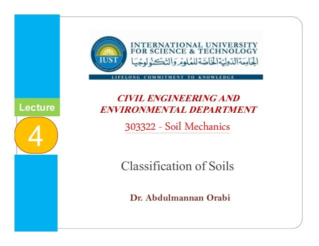 INTERNATIONAL UNIVERSITY FOR SCIENCE & TECHNOLOGY وا م ا و ا ا CIVIL ENGINEERING AND ENVIRONMENTAL DEPARTMENT ...
