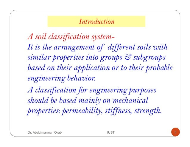 Lecture 4 classification of soil Slide 3