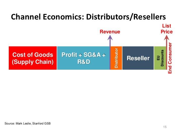 Channel Economics: Distributors/Resellers                                                                                 ...