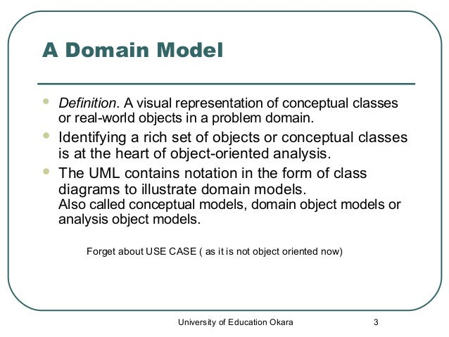 ... Education Okara; 3. 3 A Domain Model  Definition.