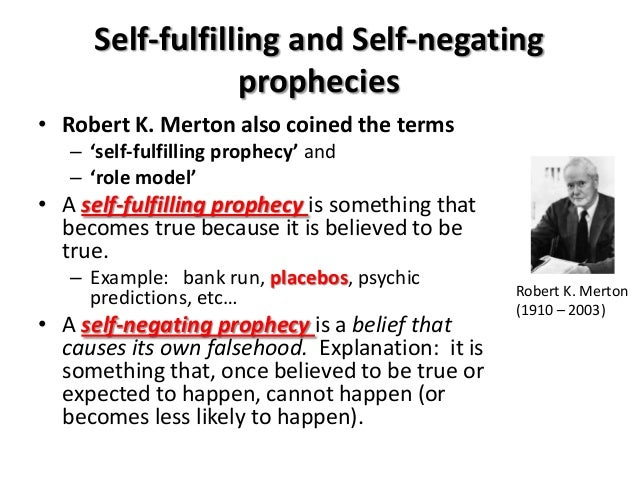 the effect of self fulfilling prophecies on self concept essay Note: self-fulfilling prophecies must involve at least two people-- you cannot  if  jeff has two choices for where to go to dinner, the fewer unique effects of that.