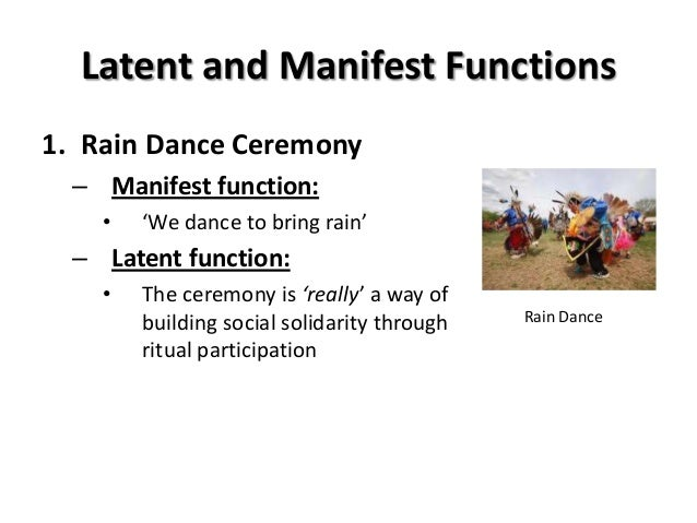conclusion of manifest and latent function