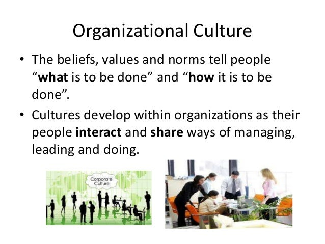 organisational culture and ways of managing