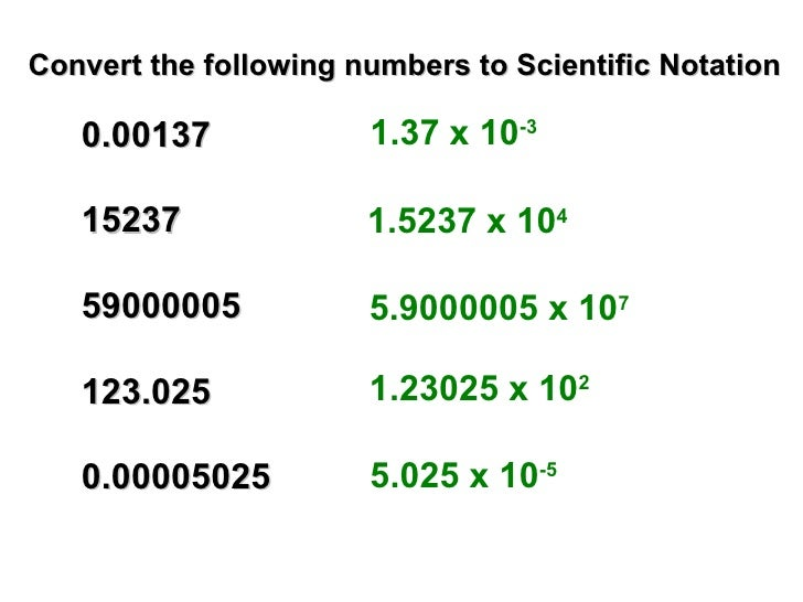 How To Write Scientific Notation Acurnamedia