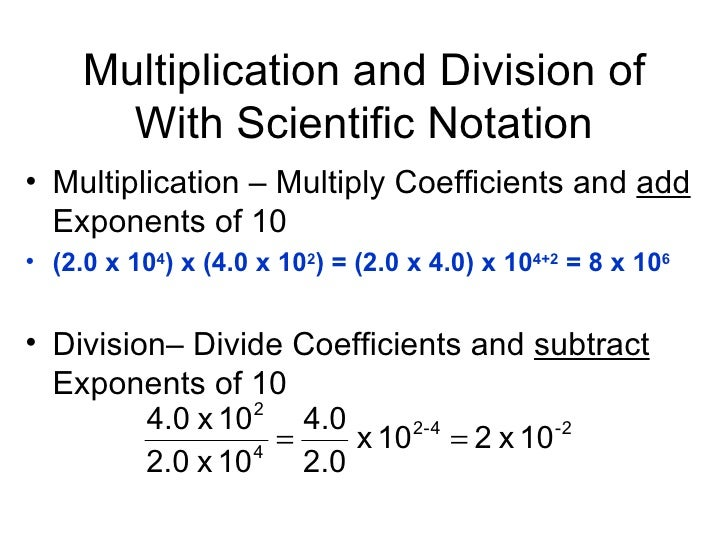 Scientific Notation Multiplication And Division Worksheet one – Multiplying and Dividing Exponents Worksheet
