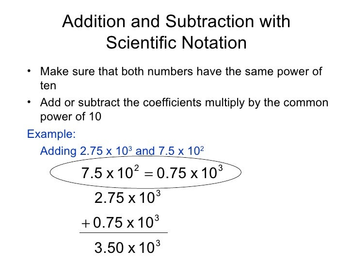 Course Scientific Notation Multiplication in Scientific Notation ...