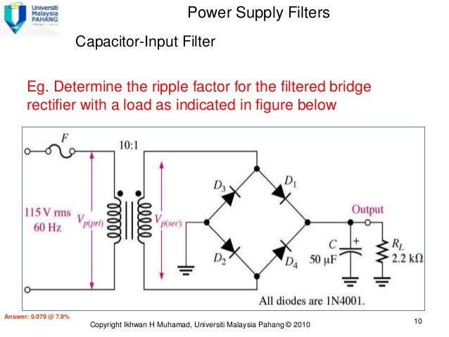 Lecture 4 ver2 diodeapp 10 power supply filters capacitor input asfbconference2016 Choice Image