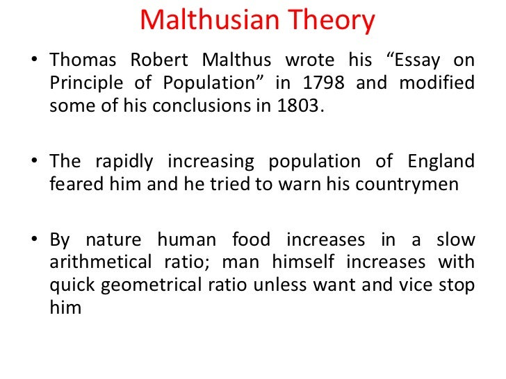 a critical analysis of the malthusian Like malthus, contemporary socio-economic theorists view excessive population rather than social institutions and social relations as the main source and barrier to the solution of social problems it is, therefore, the purpose of this paper to present an marxist critique and a marxist alternative to the malthusian and.