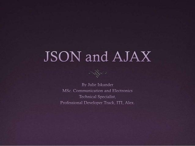 Lecture Outline JSON AJAX
