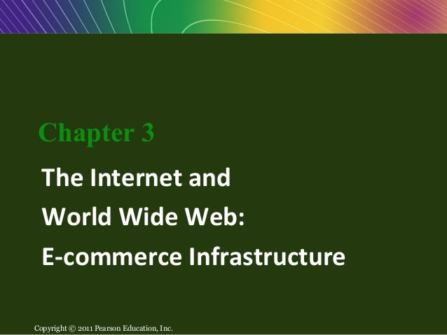Chapter 3: The Internet and     World Wide Web: E-commerce            Infrastructure   Chapter 3    The Internet and    Wo...