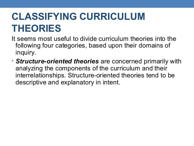 curriculum theory Covers curriculum theory and instructional processes for secondary mathematics  classrooms and how to design engaging lessons aligned with the common.