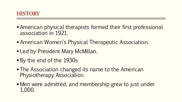 Lecture 5 Introduction To Physical Therapy