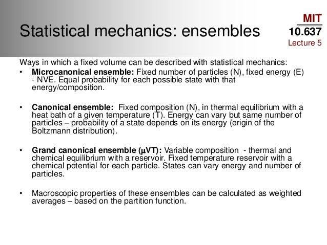 ENSEMBLE STATISTICAL MECHANICS PDF