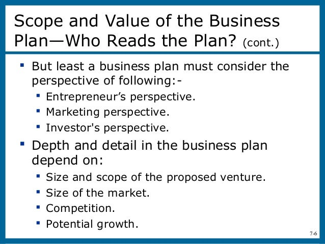 preparing a business plan for a startup venture