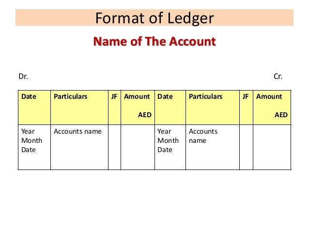 ledger format