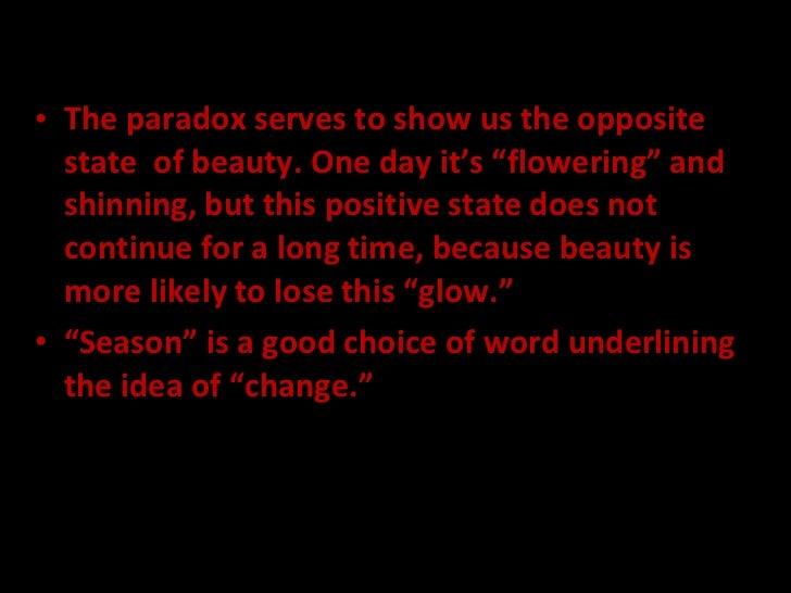 Paradox stated antithesis