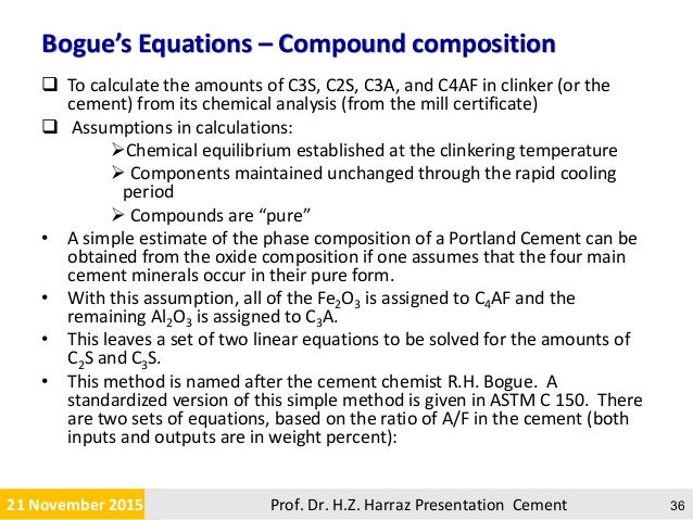 Cement C3a C4af And Hydration In : Cement