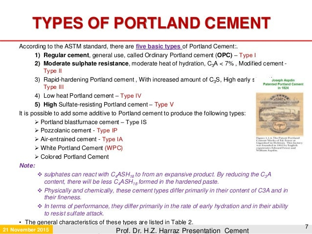 Type V Cement : Cement