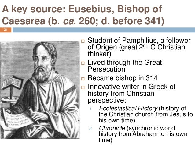 eusebius conversion of constantine Gibbon on the conversion of constantine  he regards the two main sources for the event, eusebius and lactantius, as next to worthless.