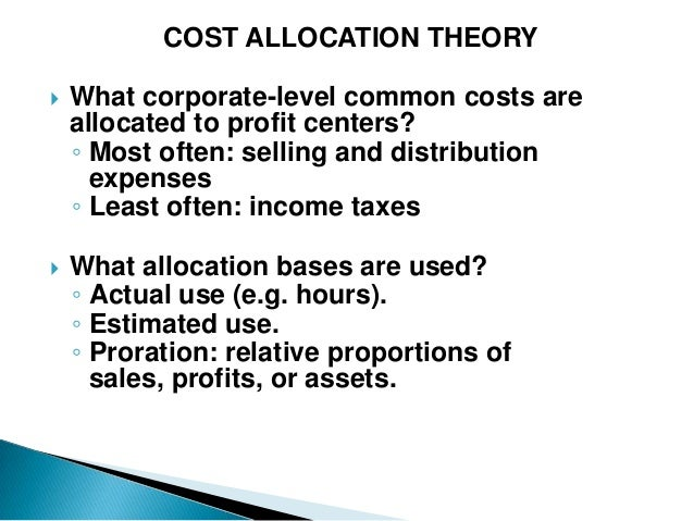 Monthly Cost Allocation Report