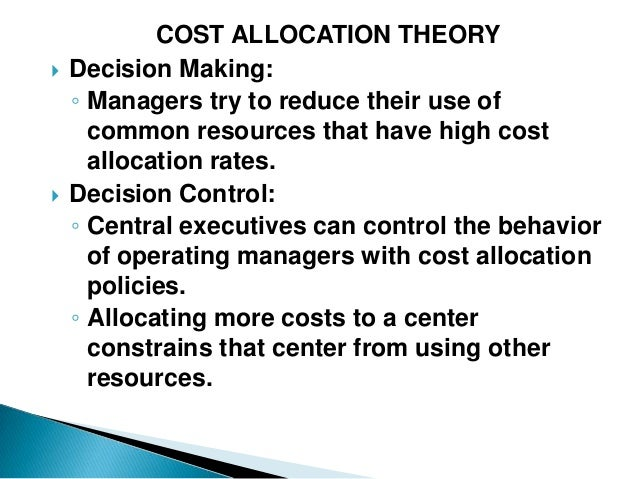 costing theory Costing definitions and concepts theory of costs the cost accounting allocation system (caas.