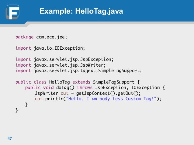 Lecture 5 JSTL, custom tags, maven