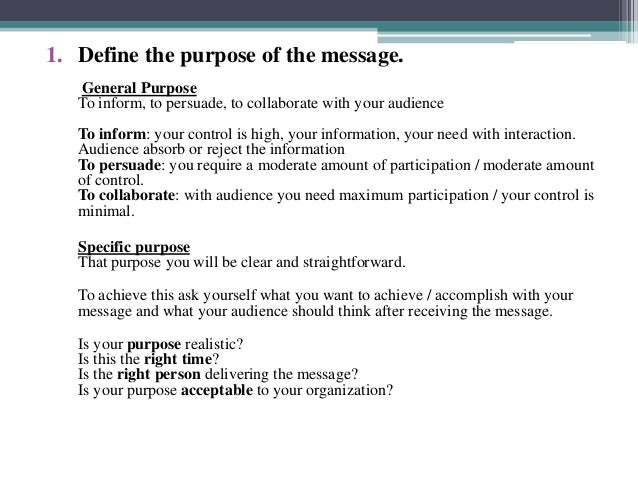 Lecture 5 steps of planning business communication ppt
