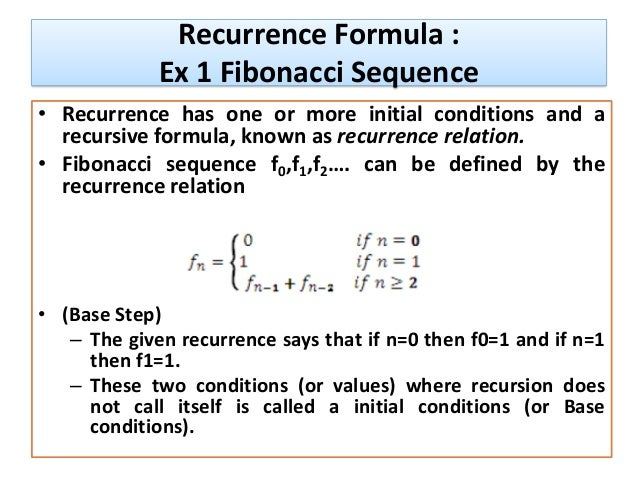 Write a recursive formula for the fibonacci sequence rabbit