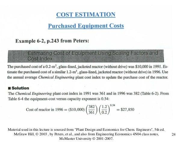 Lecture 5 Cost Estimation I
