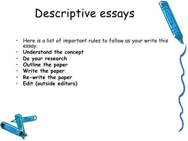 what is descriptive essay