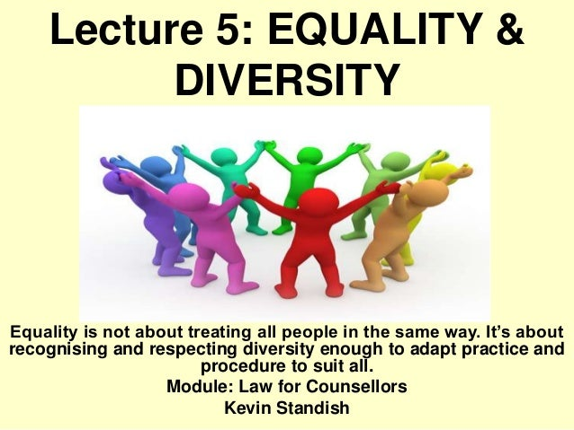 a discussion of equality and diversity Equality and diversity: good practice for the construction sector a report commissioned by the equality and human rights commission jan peters in association with.