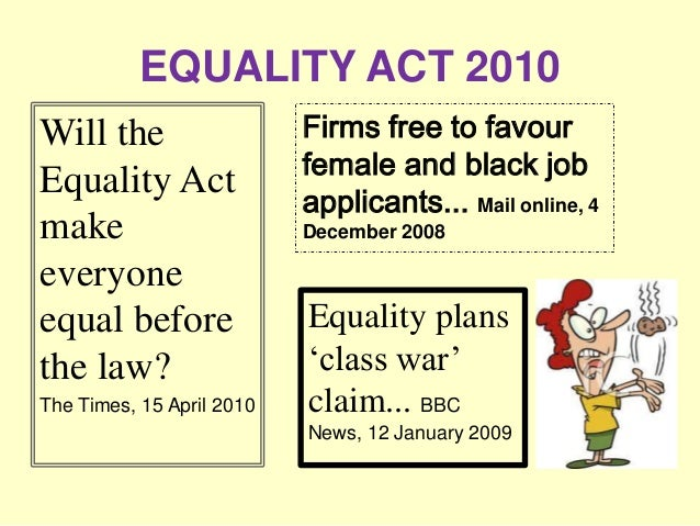 equality act and disability