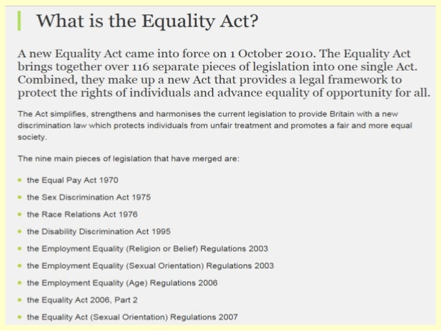 Sex discrimination act 2003