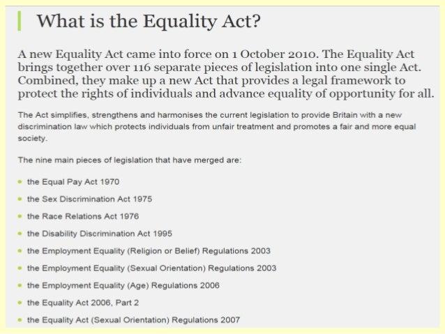 Sex discrimination act 2003