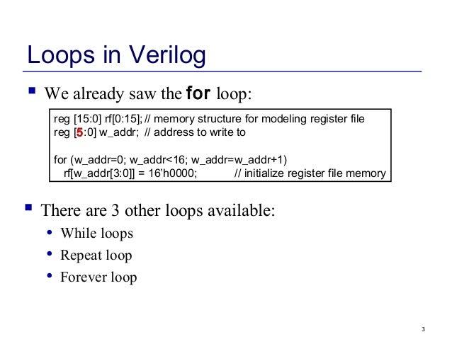 verilog while loop