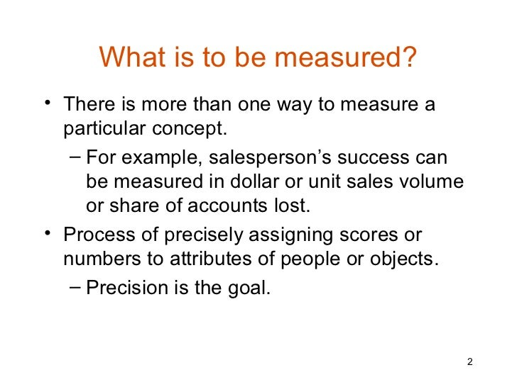 measurement in research consists of assigning numbers to